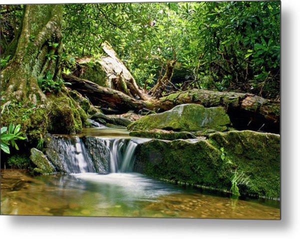 Sims Creek Waterfall Metal Print