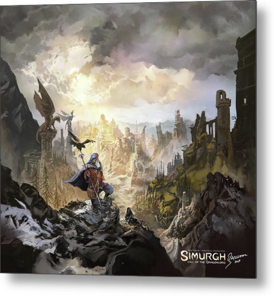 Simurgh Call Of The Dragonlord Metal Print