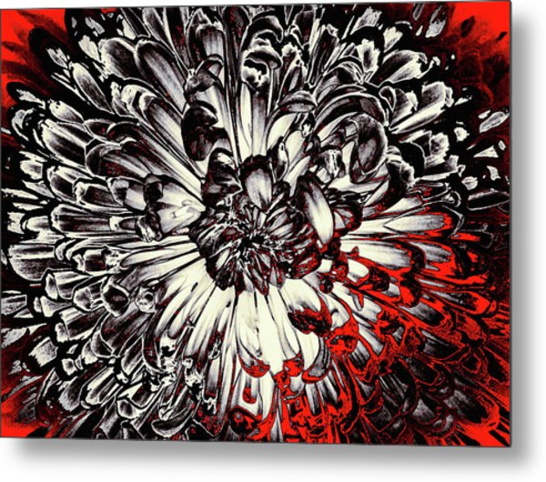 Metal Print featuring the mixed media Sin City by Susan Maxwell Schmidt