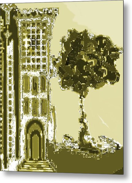 Sinagoga Metal Print by Emna Bonano