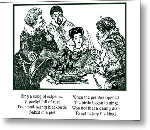 Sing A Song Of Sixpence Nursery Rhyme Metal Print