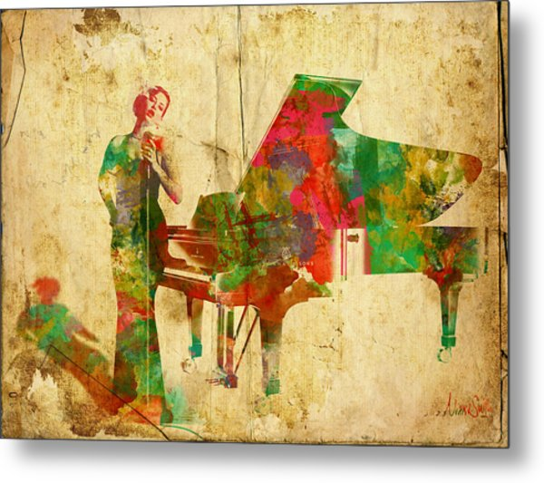 Metal Print featuring the digital art Sing It Baby One More Time by Nikki Smith
