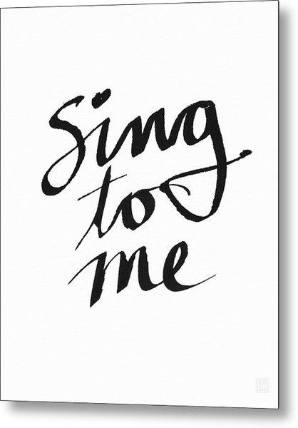 Sing To Me- Art By Linda Woods Metal Print