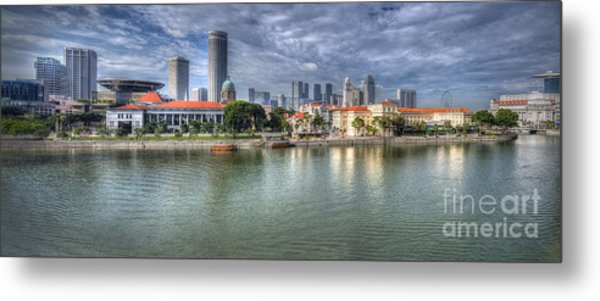Singapore By Day Metal Print