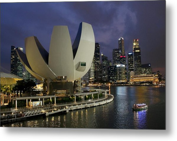 Singapore Harbor Metal Print