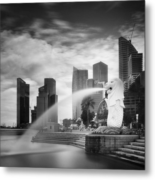 Singapore Harbour Metal Print