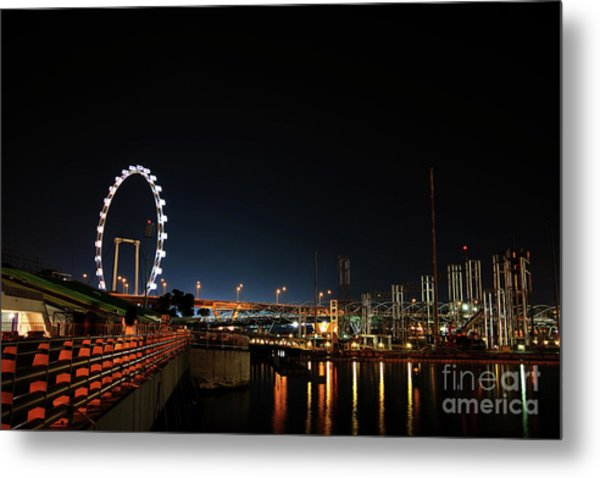 Singapore Waterfront Metal Print by Jaroon Ittiwannapong