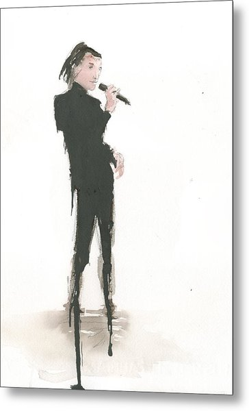 Singer Melting A Jazz Tune Metal Print