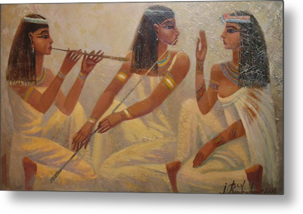 Singers Of Pharaoh Metal Print