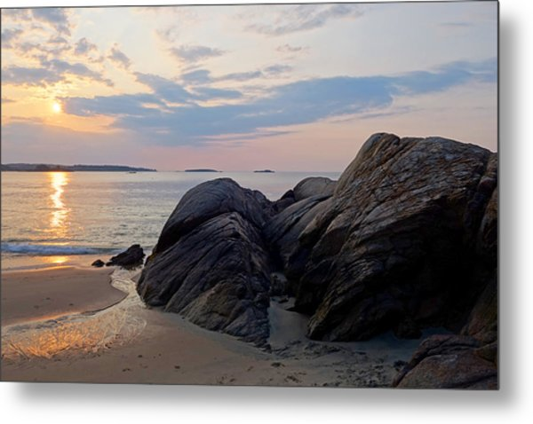 Singing Beach Rocky Sunrise Manchester By The Sea Ma Metal Print