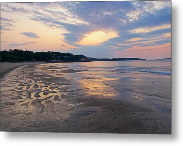 Singing Beach Sandy Beach Manchester By The Sea Ma Sunrise Metal Print