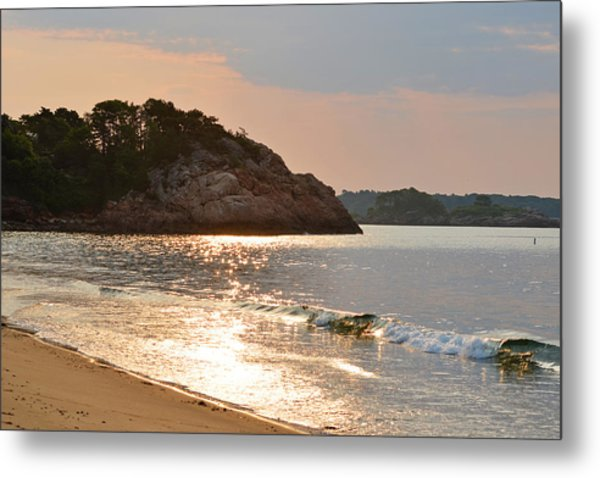 Singing Beach Silver Waves Manchester By The Sea Ma Metal Print