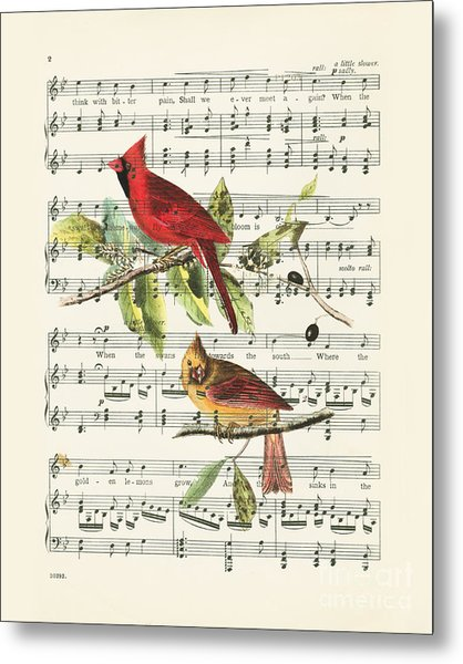 Singing Cardinals Metal Print
