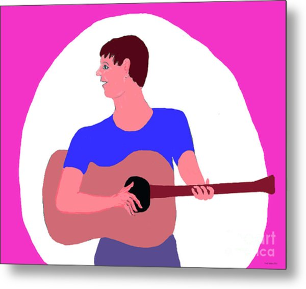 Singing Guitarist Metal Print
