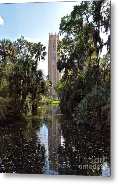 Singing Tower Reflection Metal Print