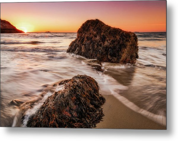 Metal Print featuring the photograph Singing Water, Singing Beach by Michael Hubley