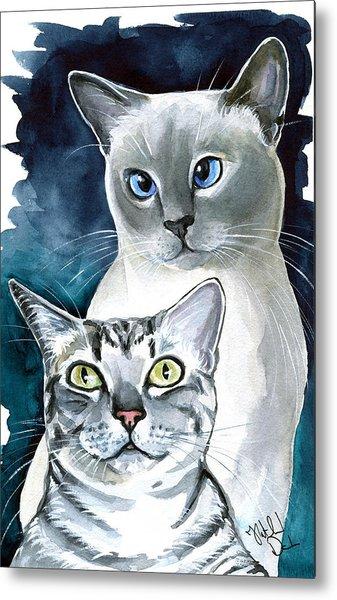 Sini And Nimbus - Cat Portraits Metal Print