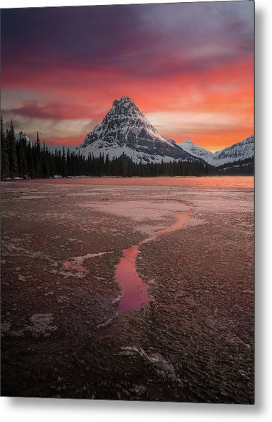 Metal Print featuring the photograph Sinopah Mountain Sundown // Two Medicine Lake, Glacier National Park  by Nicholas Parker