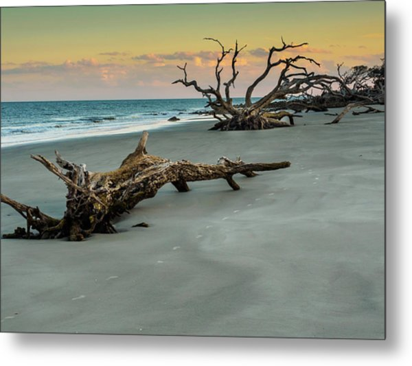 Sunset On Jekyll Island Metal Print