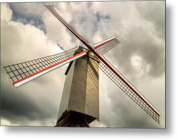 Sint Janshuismolen Windmill 2 Metal Print