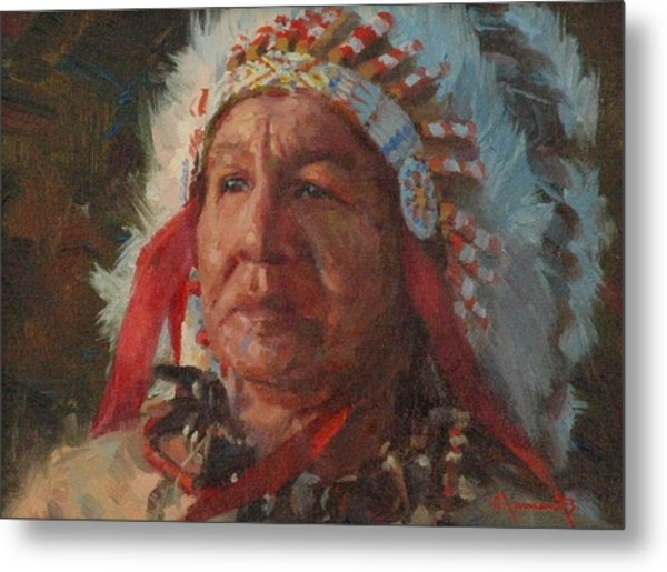 Sioux Chief Metal Print by Jim Clements