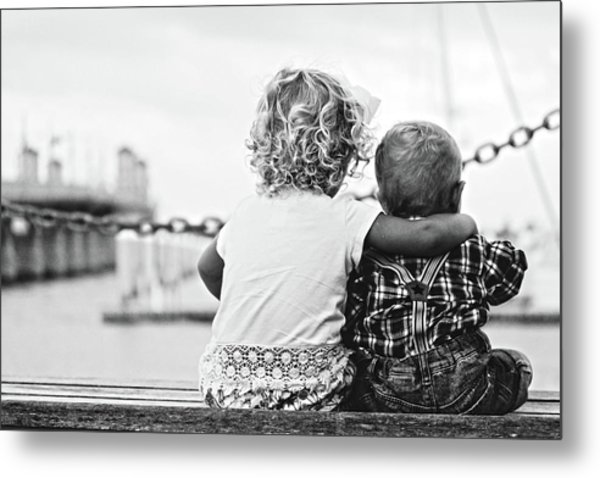 Sister And Brother Metal Print