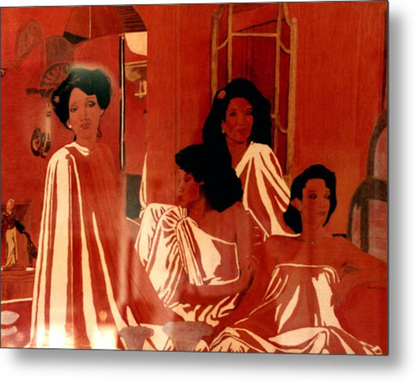 Sisters We Are Family Metal Print