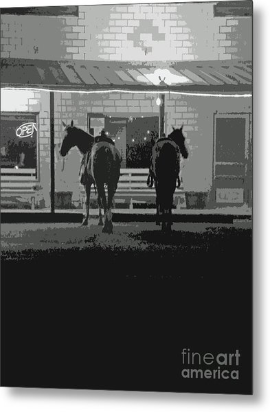 Sisterdale Saturday Night Metal Print