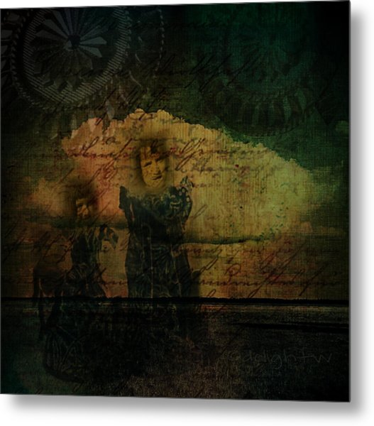 Metal Print featuring the digital art Sisters At The Shore by Delight Worthyn