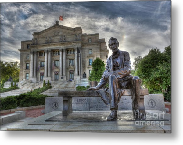 Sit With Me - Seated Lincoln Memorial By Gutzon Borglum  Metal Print