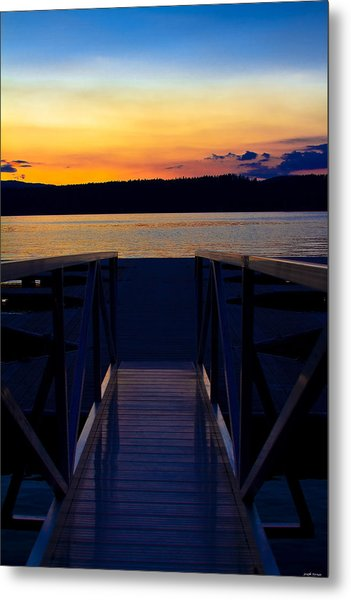 Sitting On The Dock Of A Bay Metal Print