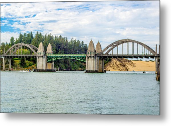 Siuslaw River Draw Bridge  Metal Print