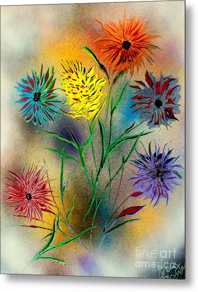 Six Flowers - E Metal Print