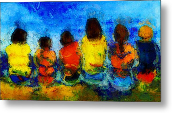 Six On The Shore  Metal Print