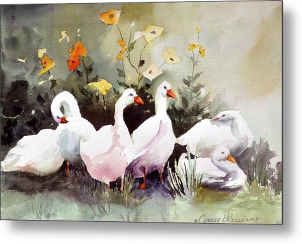 Six Quackers Metal Print
