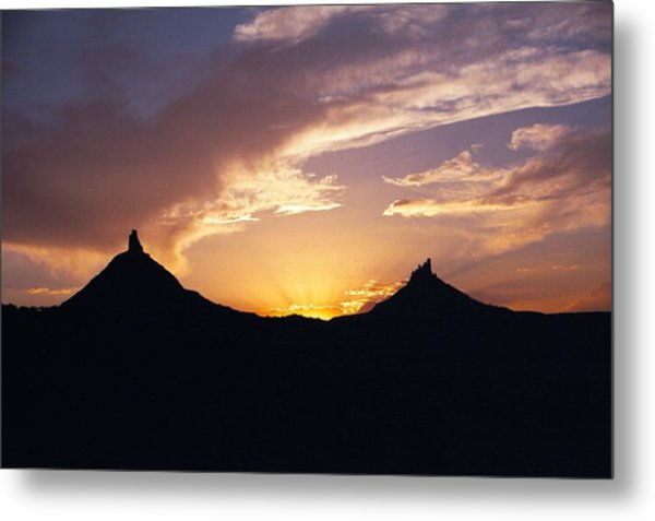Six Shooter Peaks Metal Print
