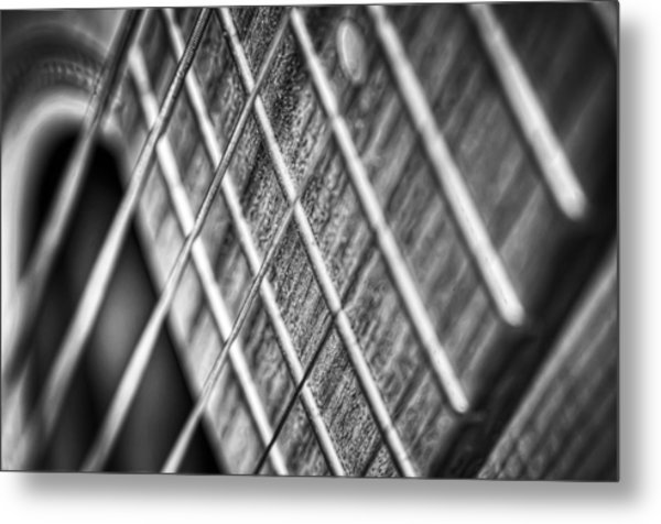 Six Strings Metal Print