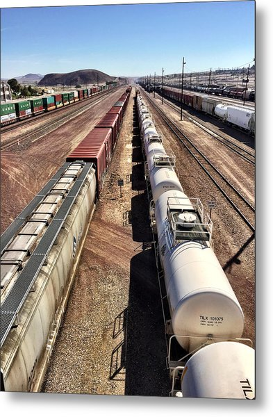 Six Trains Metal Print