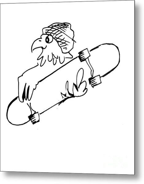 Skateboard Hawk  Metal Print
