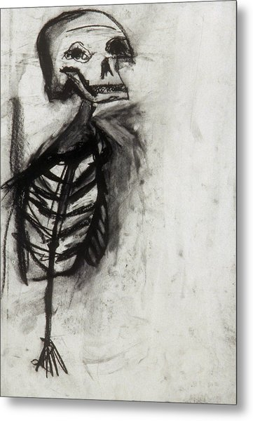 Skeleton Study Metal Print by Jamie Wooten