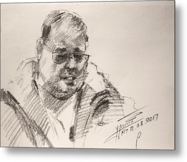 Sketch Man 14 Metal Print
