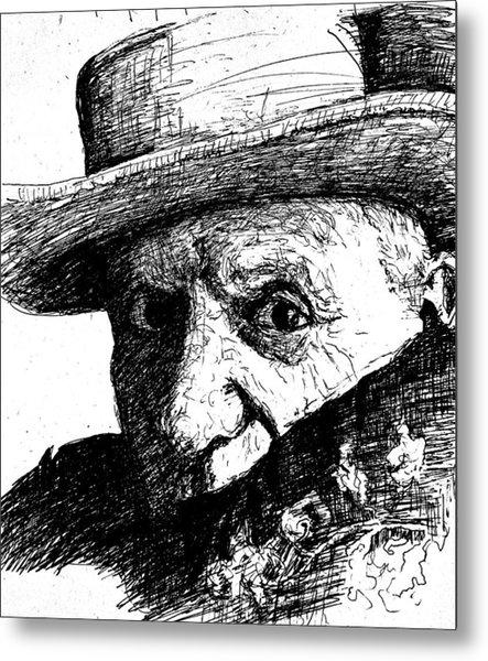 Sketch Of Picasso Metal Print by Dan Earle