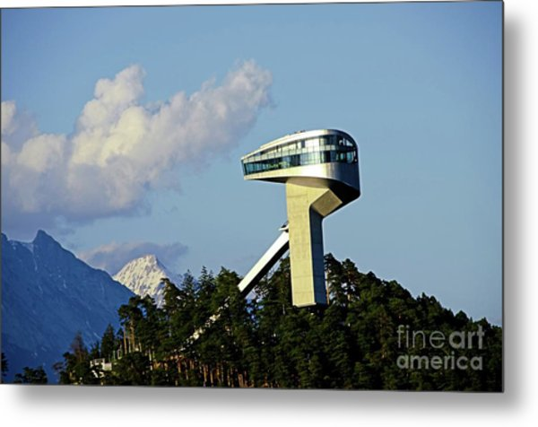 Ski Jumping Tower At Bergisel Innsbruck Austria Metal Print