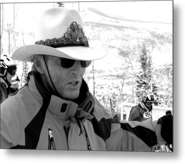 Ski Legend Billy Kidd Metal Print