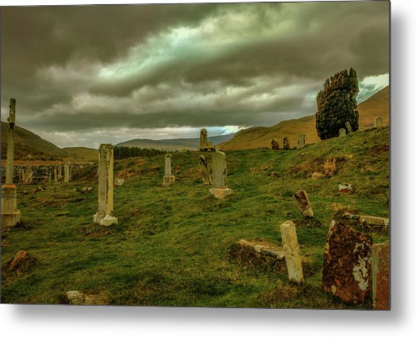 Skies And Headstones #g9 Metal Print