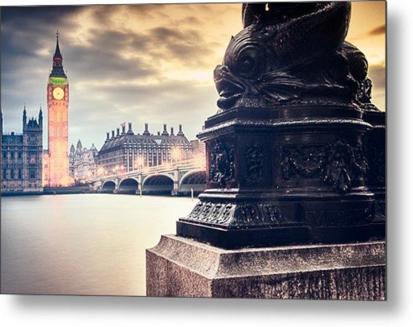 Skies Over London Metal Print