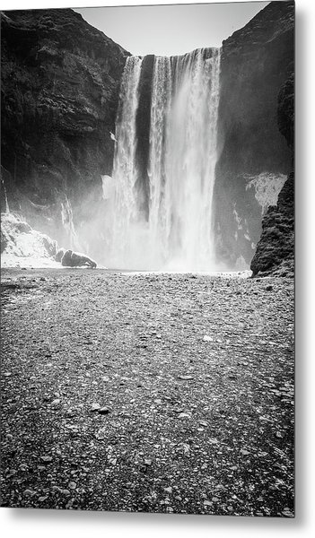 Skogafoss In Winter Metal Print