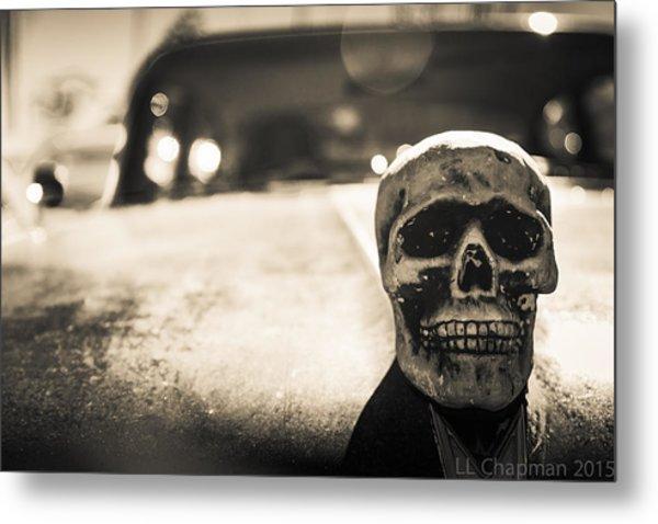 Skull Car Metal Print