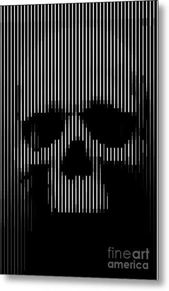 Skull Lines Metal Print