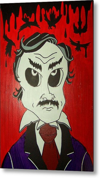 Skully Poe Metal Print by Chris  Fifty-one